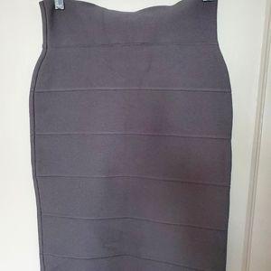 BCBG Maxazria Grey Banded Skirt Size S